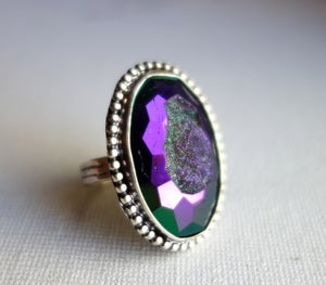 Image of Peacock Drusy Cocktail Ring