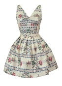 Floral Print Cotton Mini Dress ONE OF A KIND