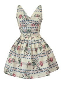 Image of Floral Print Cotton Mini Dress ONE OF A KIND