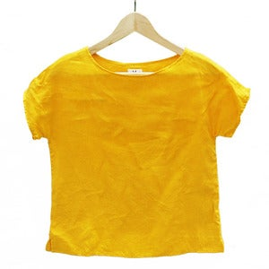 Image of Arrow Tee <br>Sunflower Yellow Linen