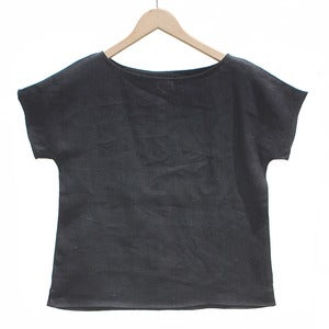 Image of Arrow Tee <br>Black Linen
