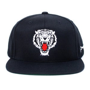 Image of Prey Snapback Cap (Black/White)