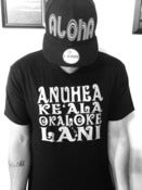 Image of Anuheake'alaokalokelani Tee - WHITE on BLACK