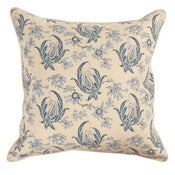 Image of Paisley Stripe Indigo Single Sided Pillow