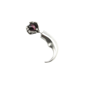 Image of Orb. Crystal Talon Single Earring