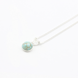 Image of Tiny Pale Turquoise Stone Necklace