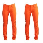 Image of Orange Skinny Jeans