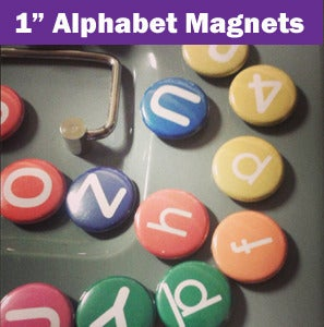 "Image of Alphabet Magnets 1"" inch"