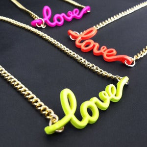 Image of Neon Love Necklace