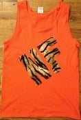 Image of NF Tiger print Tank orange
