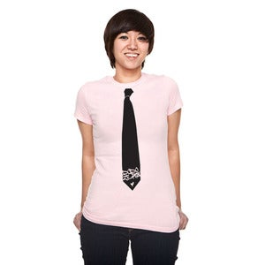 Image of Tie-shirt / Ladies / Pink / Light Blue / Red / White