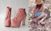 Image of Jeffery campbell lita pink fur Platform Heel 39