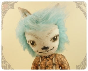 Image of SOLD~ Lil Brutes - Wolf Boy by the Filigree ~ Blueberry