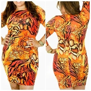 Image of Leopard Fire Dress
