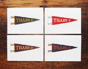 Image of Pennant Thank You Card Set