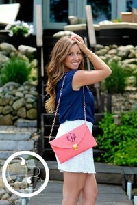 Image of Monogrammed Envelope Clutch