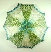 Image of Lace Parasol Circus Stripes