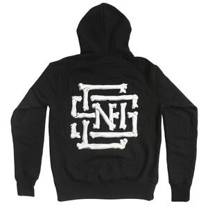 Image of Bones Lockup Zip-Up Hoody