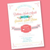 Image of Tip Toe through the Garden Wedding Invitation Suite