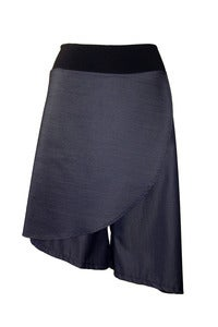 Image of Asymmetrical Skort in Suitings