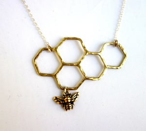 Image of Brass Honeycomb Necklace
