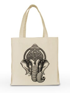 Image of CANVAS TOTE BAG | Ganesha