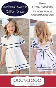 Image of Anchors Aweigh Sailor Dress