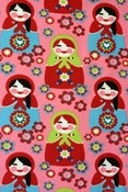 Image of Matryoshka organic cotton jersey (by the half metre)