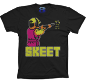 Image of 8 Bit Apparel Skeet Shooter (Promo Tee Overstock) in Black