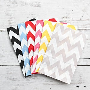 Image of Chevron Gusset Paper Bag