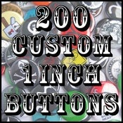 "Image of 200 Custom 1"" Pinback Buttons"