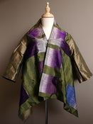 Image of Reversible Silk Jacket with Handwoven Laotian Silk . J2