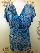 Image of Japanese weekend Paisley nursing top Size large