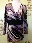 Image of Japanese weekend purple nursing top size large