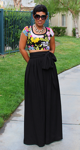 Image of Summer Regal Maxi Skirt w/Sash