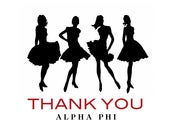 Image of Alpha Phi Dresses Thank You Note Cards
