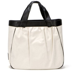 Image of Madison Tote - Black & Canvas