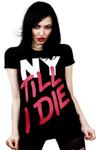 Image of NY Till I Die (Black) (Womens)