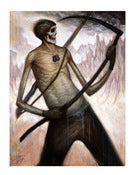 Image of DEATH PLAYING AIR GUITAR ON A SCYTHE *SPECIAL COLLECTOR'S EDITION*