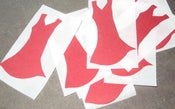 Image of Red Dress Shaped Stickers, set of 10