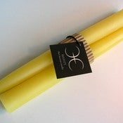 Image of Beeswax Dinner Candle 8 inch Pair 