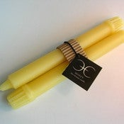 Image of 8&quot; Beeswax Colonial Dinner Candle Set 