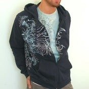 Image of SALE Undersea Wraparound Chrome Seaweed Hoodie(out od stock Large)