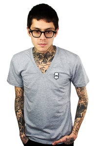 Image of Embroidered V-Neck (Heather grey) (Mens)