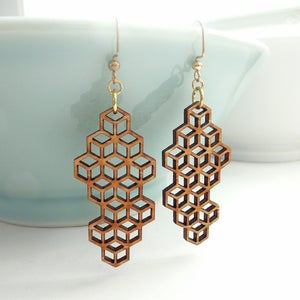 Image of Medium Honeycomb Earrings