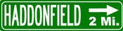 Image of Haddonfield 2mi. Street Sign