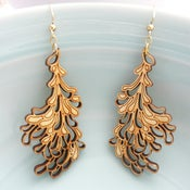 Image of Large Gold Blossom Earrings