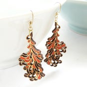 Image of Large Red Blossom Earrings