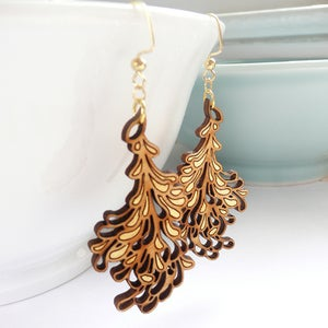 Image of Medium Gold Blossom Earrings