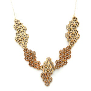 Image of Honeycomb Lace Necklace